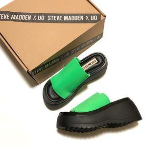 Steve Madden Slinky Platform Sandals Lime Green